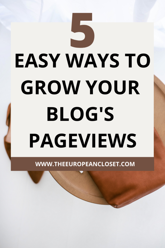 Not getting enough traffic to your blog? Here are 5 ways you can grow your blog's pageviews without a ton of effort.
