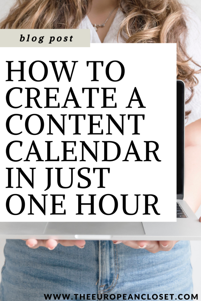 Having a content calendar is the best way to be consistent with your blog and social media and therefore increase your chances to succeed in an ever-growing industry.