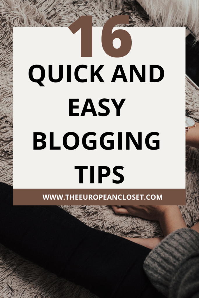 For today's post, I've decided to just write down quick and easy blogging tipos that you can implement into your blogging routine right now!