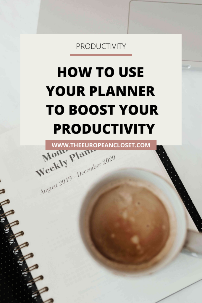 There are a few things you can do to actually use your planner in a way that will boost your productivity and I'm here to talk about them.