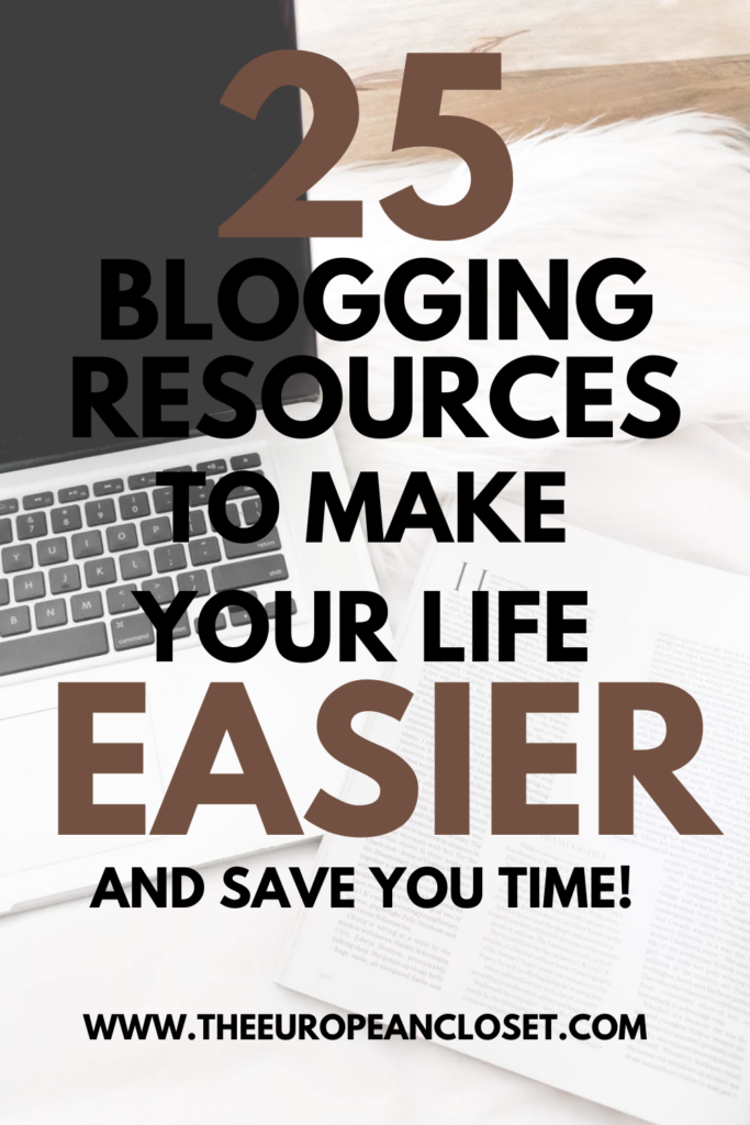 Today I've gathered my top 25 favorite blogging resources to share with you. I use these pretty much every day and they are super helpful.