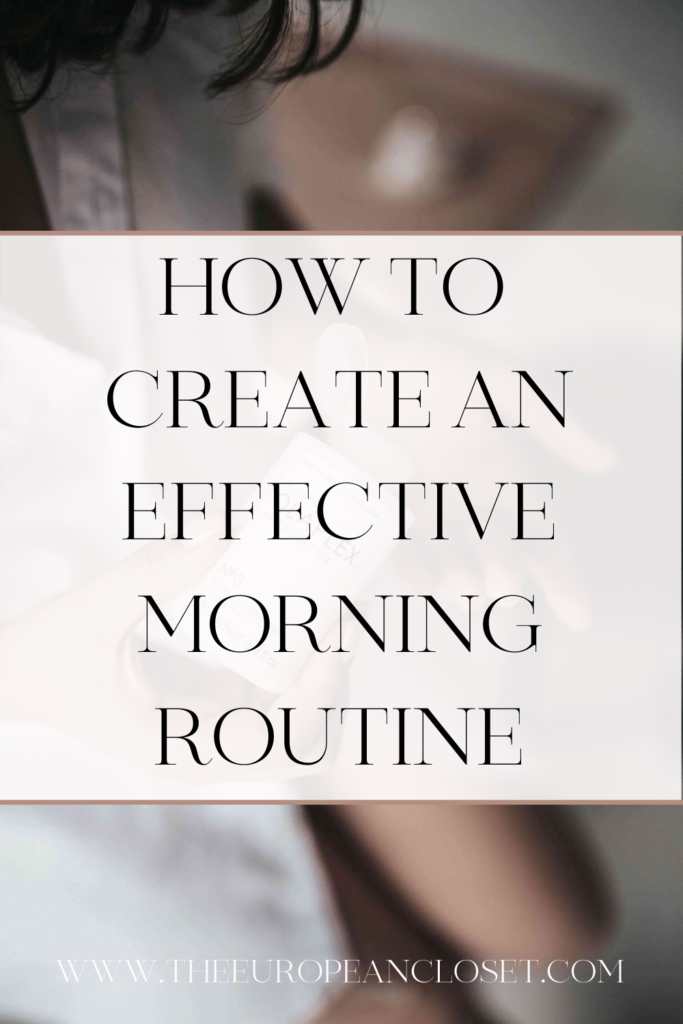 Starting the morning right dictates how our day goes. In today's post, I'm sharing some ways you can create an effective morningroutine.