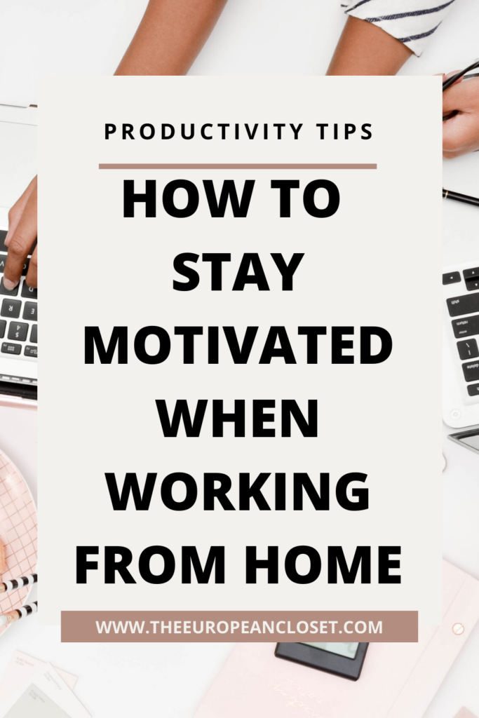 Working from home is both a blessing and a curse. Today, I've gathered a few tips that have helped me be more productive and motivated.