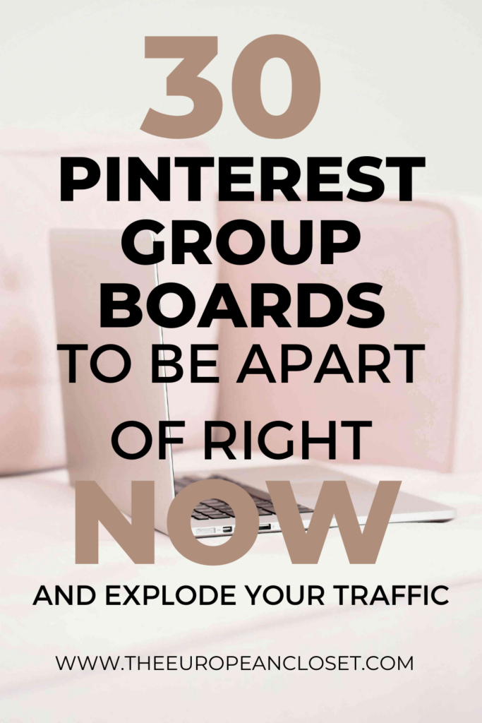 Pinterest group boards are a great way to get more traffic to your blog posts. Here's a list of my top 30 group boards.