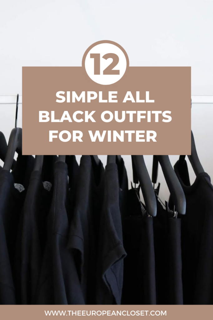 For today's post, I've decided to gather 12 all black outfits that are easy to recreate and are comfortable, stylish, and elegant.