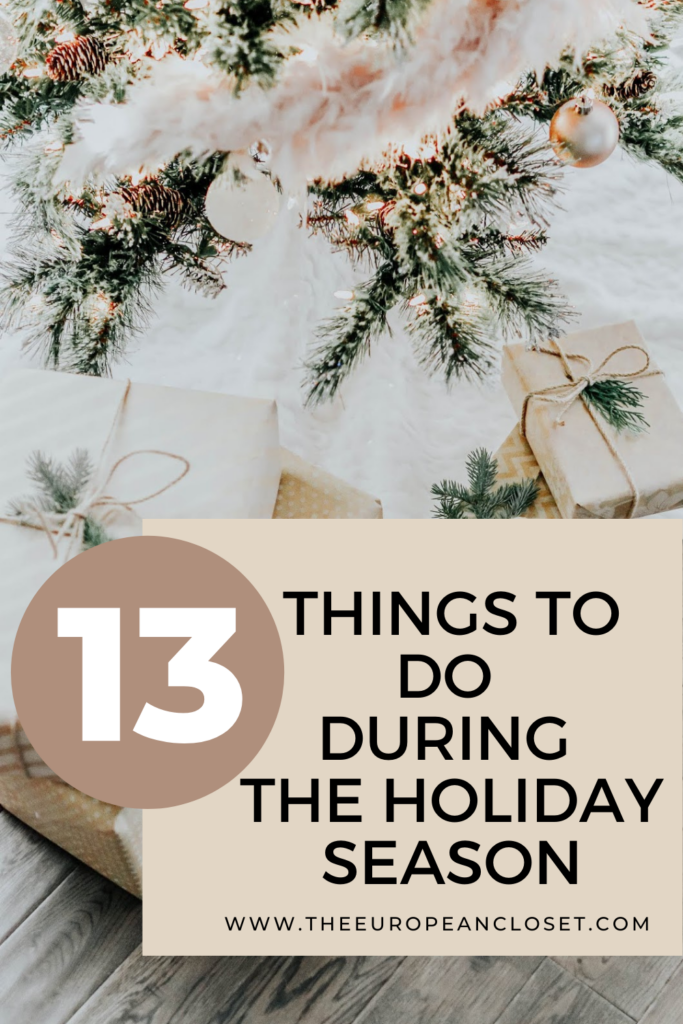 1things to do during the holidays