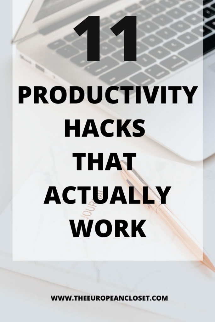 Today I've compiled a list of simple things you can do on your daily life to make sure you can be as productive as possible.