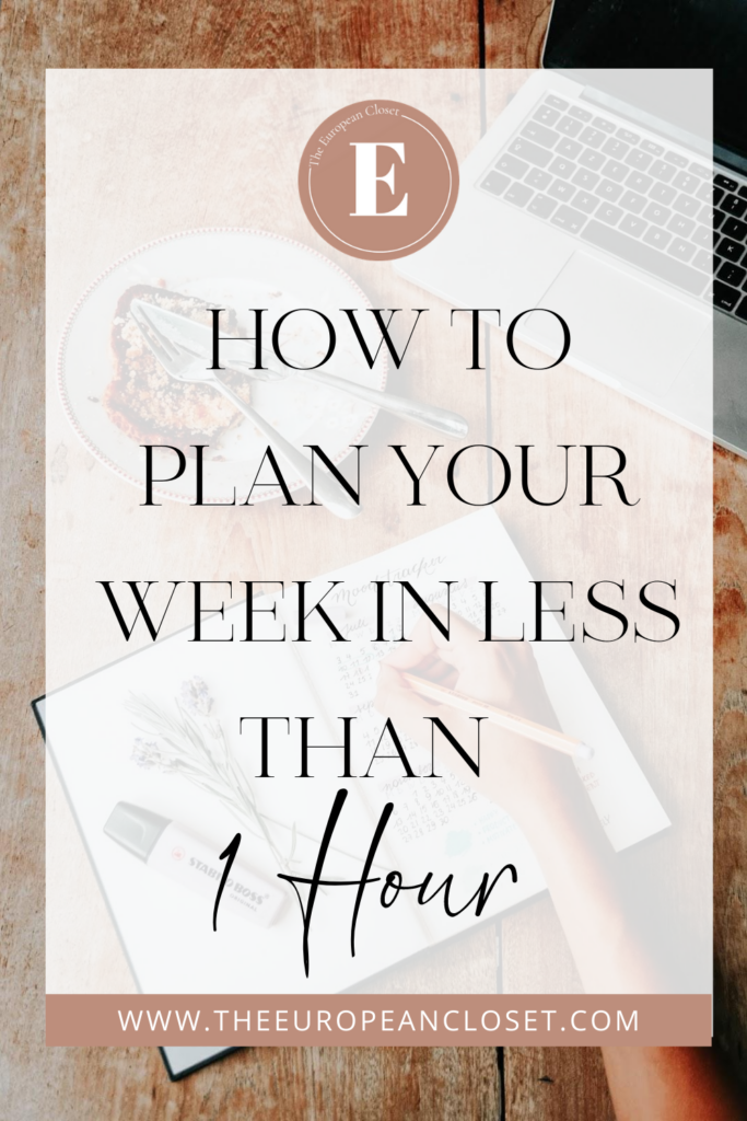 What if I told you you could plan out your whole week in less than an hour? Being organized does not mean you have to plan for hours and hours and I'm here to show you how you can do it in as little time as possible.