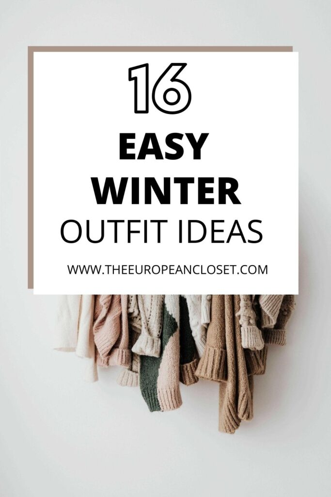 Today I'm here to make your life a little easier so you can enjoy those extra minutes under your cozy blanket. Here are 16 winter outfit ideas that are super easy to recreate.
