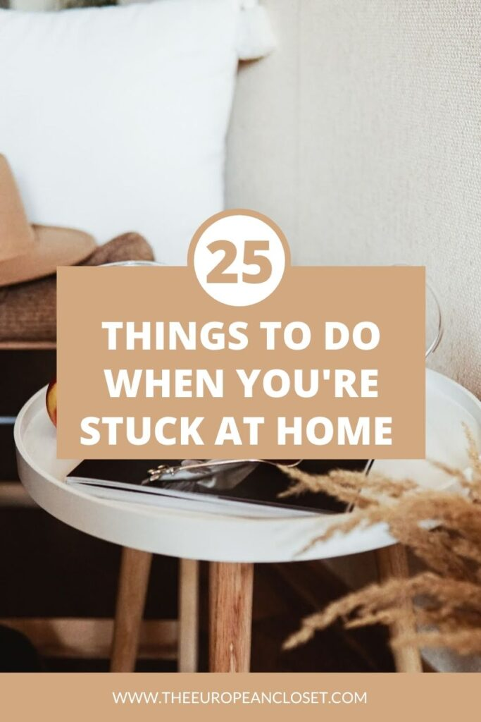 If you're someone who has to stay home for now, finding what to do can be a bit daunting. To help you cope with this whole insane situation, I've compiled a list of things you can do while you're at home so you won't get bored.