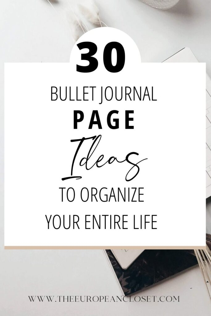 bullet-journal-page-ideas