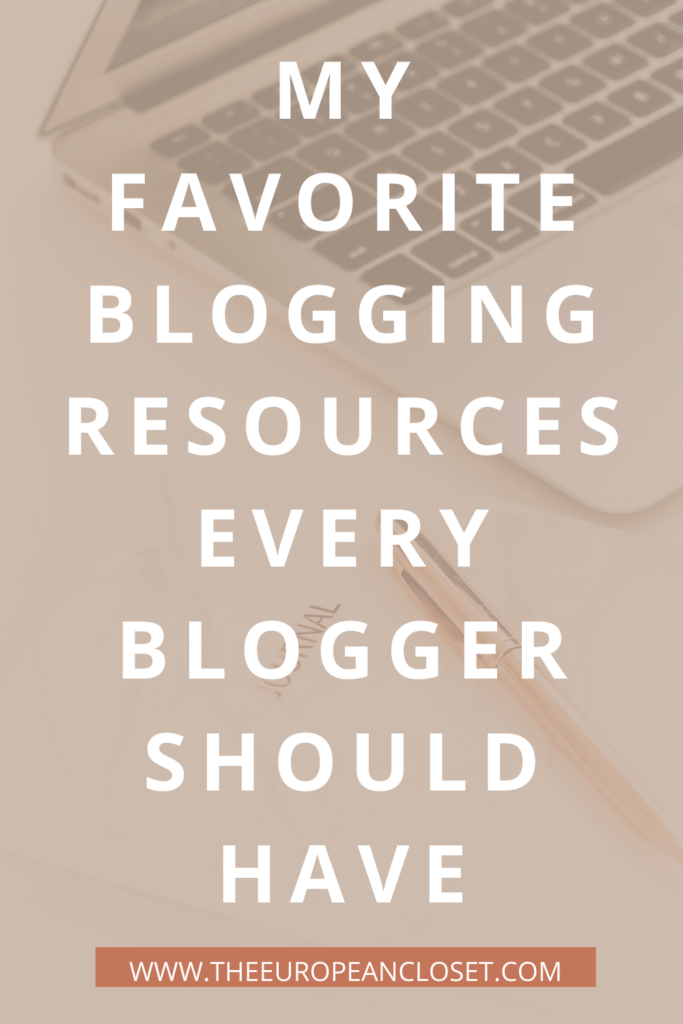 I've compiled a lit of my favorite blogging resources so you can start your blogging journey the right way.
