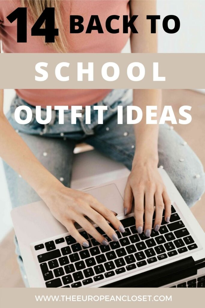 Today I thought I'd give you some ideas for outfits you can wear back to school. If you're staying home I'd ditch the shoes though, go for slippers or even barefoot instead. After all, they will only see you from the waist up!