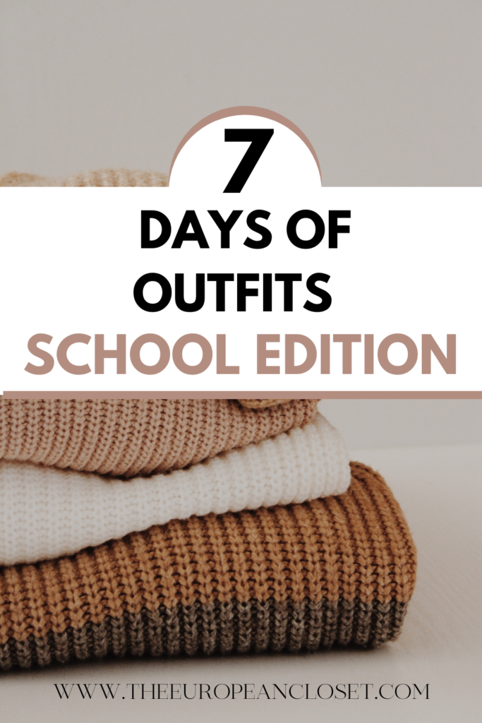 """Today's post on my """"7 Days of Outfits"""" series is all about school outfits. From skirts to jeans, I got you covered. #schooloutfitideas #schooloutfits"""