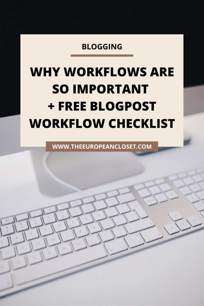 Having a workflow is what keeps me sane. Having a list I can follow so that I don't miss anything is really important for my blog and for my life. Grab the free blogpost workflow here!