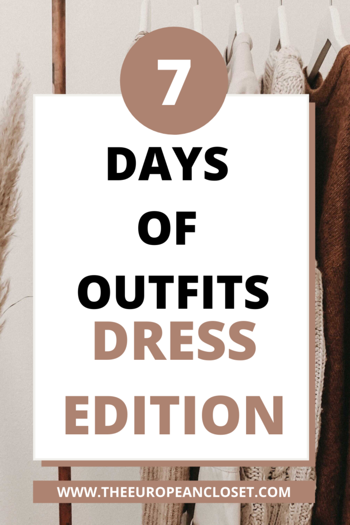 Today's 7 Days of Outfits is all about dressed. I'll be showing you 7 different looks using dresses that can be worn to various occasions.