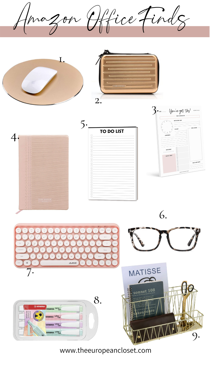 Take a look at my top 9 Amazon Office Supplies. Get motivated by being sorrounded my cute and aesthetic stationery!