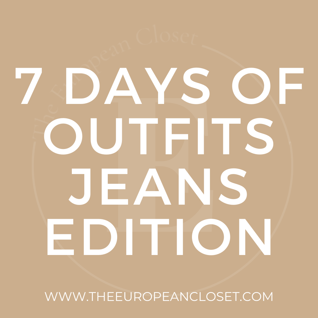 Today's 7 days of outifts is all about outfits with jeans with jeans Jeans are a staple in anybody's wardrobe, so this post is a must.