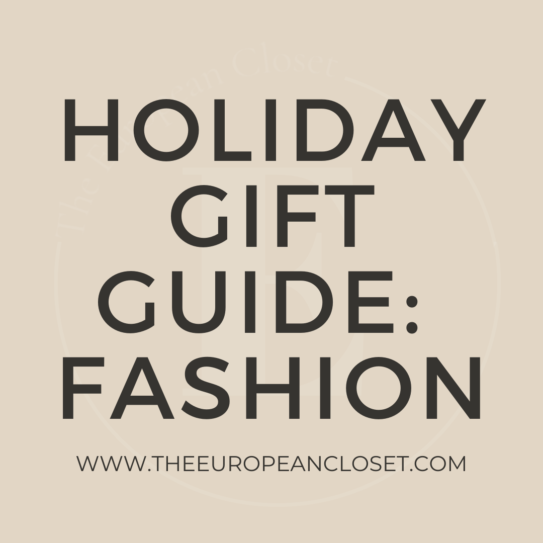 The holidays are around the corner! To start this year's Holiday Gift Guide series, I'll be showing you a few fashion gift ideas.