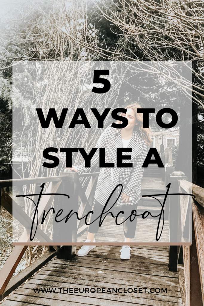 Trenchcoats never go out of style. They are a timeless piece. For today's post, I've decided to show you 5 ways to style a trenchcoat.