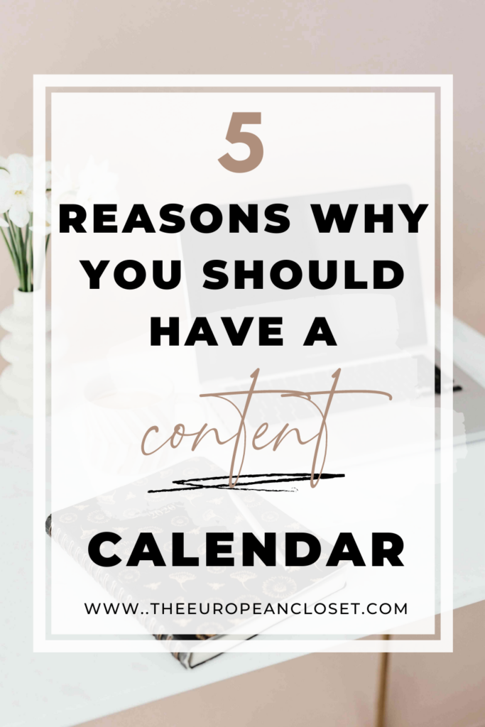 Every blogger should have a content calendar. If you haven't set up a content calendar already, here are five reasons why you should do it.