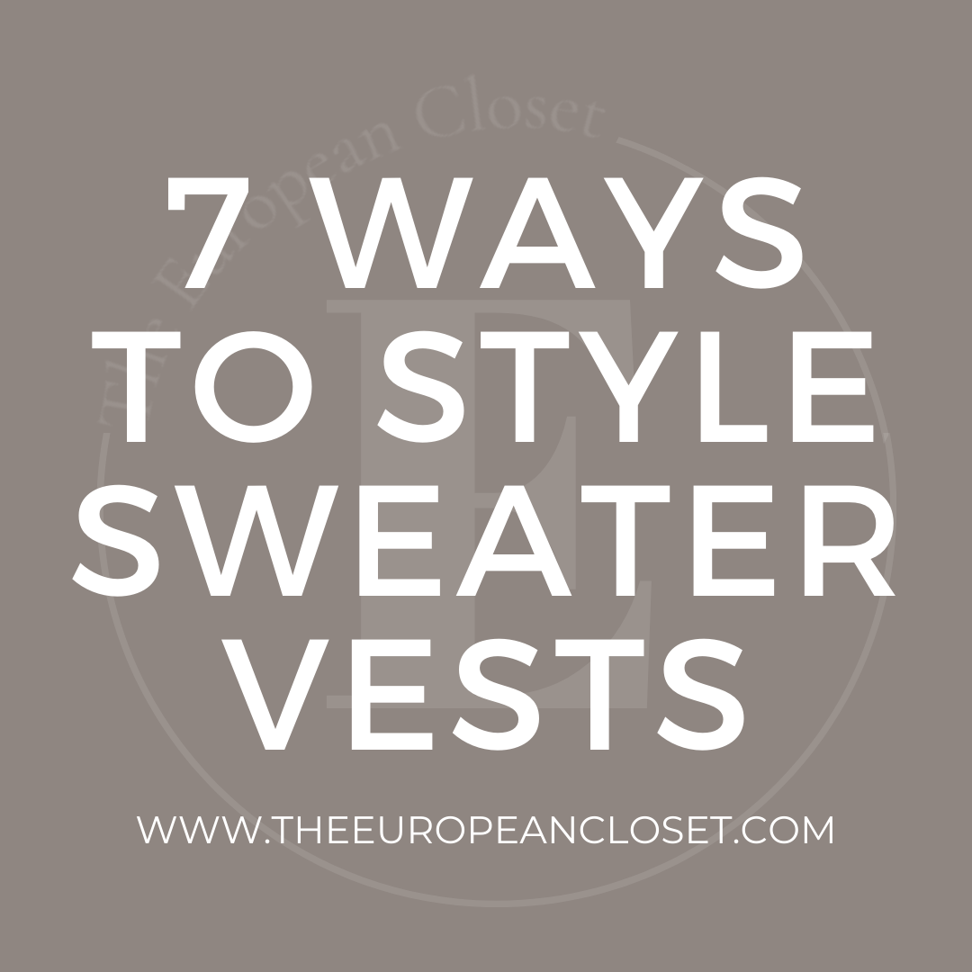 Features image - 7 ways to style sweater vests