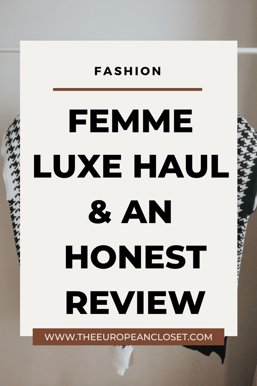 AD | In today's blogpost we'll be looking into Femme Luxe clothes. From loungewear to partywear, they have it all. See my honest review here.