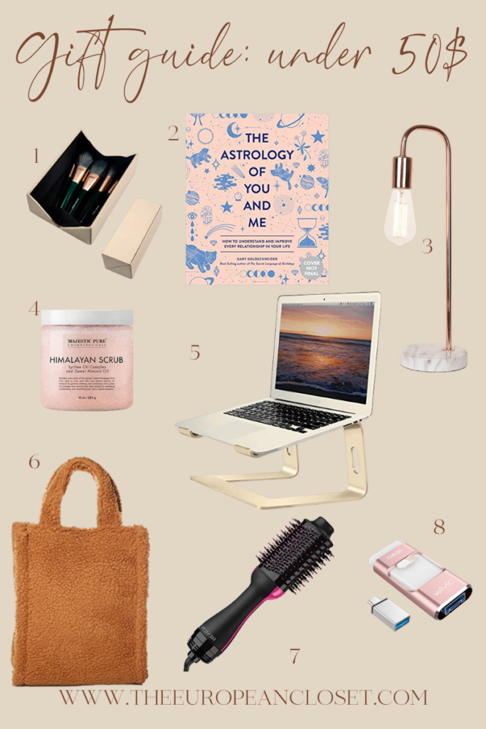today's holiday gift guide is all about affordable gifts. I've compiled a list of gifts under 50 $ that can be given to pretty much anyone!