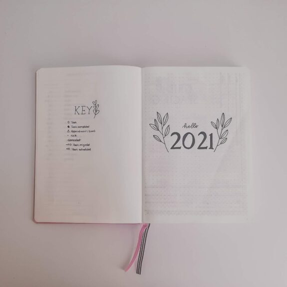 2021 bullet journal cover page