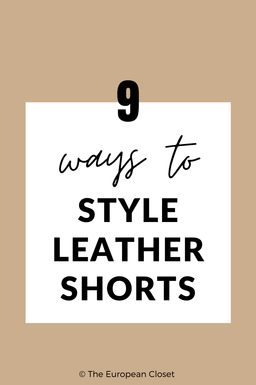 In today's post, I'm showing you 9 ways you can style leather shorts. They can be worn anywhere which makes them a great wardrobe staple!