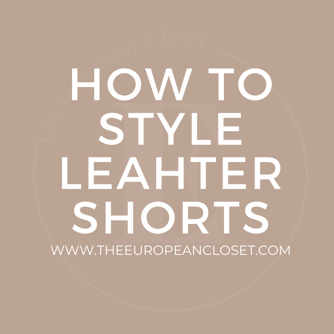 9 ways to style leather shorts for winter