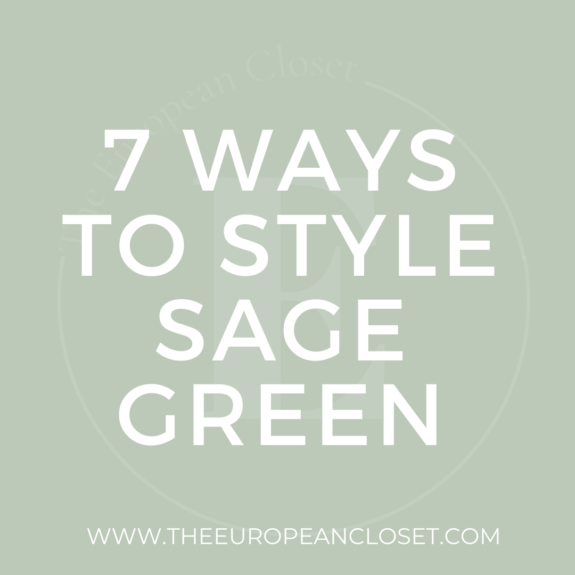 Sage green is probably the IT color this upcoming Spring/Summer. Styling green can be haunting so today I'm sharing 7 sage green outfit ideas