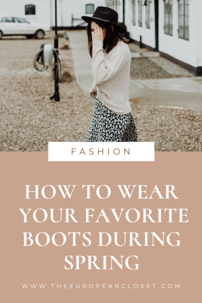 Did you know it's possible to wear your favorite boots during spring? That's right! It is possible! Here are 10 ways to do so!