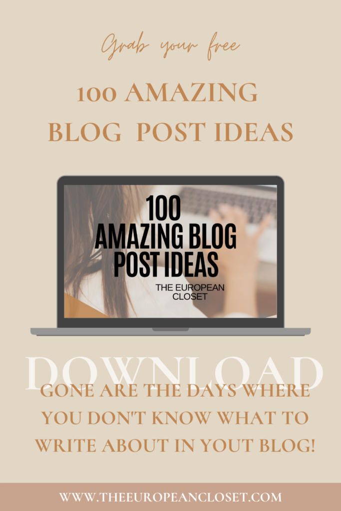 Today I'm sharing 100 blog post ideas for the following categories: fashion, lifestyle, blogging, social media productivity and organization
