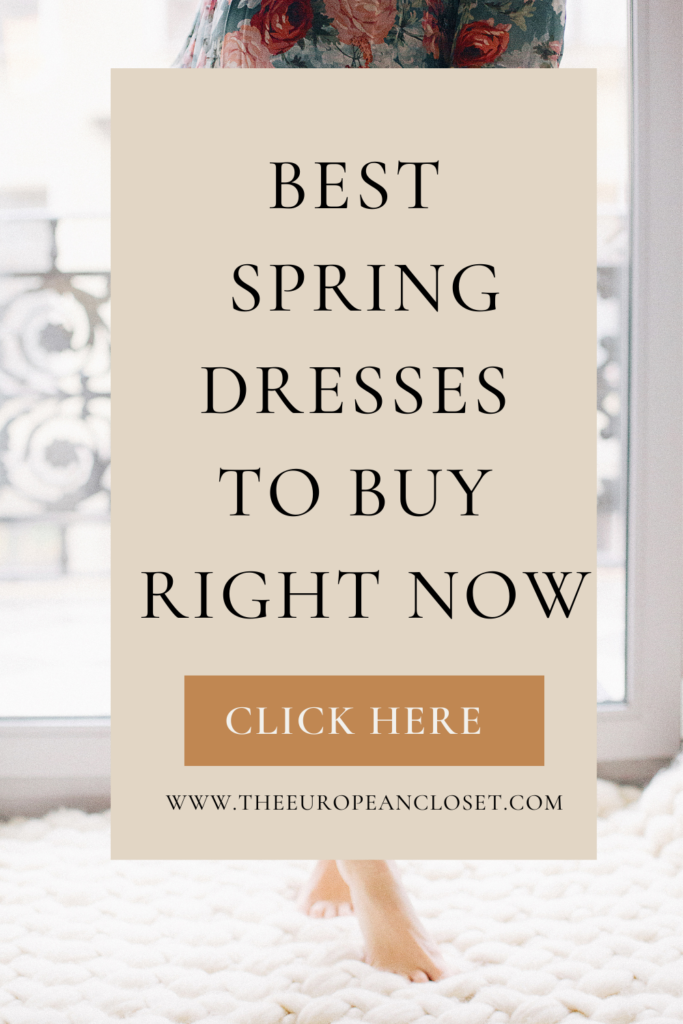 In today's post, I'll be sharing with you my favorite spring dresses you absolutely need to have in your wardrobe this season.