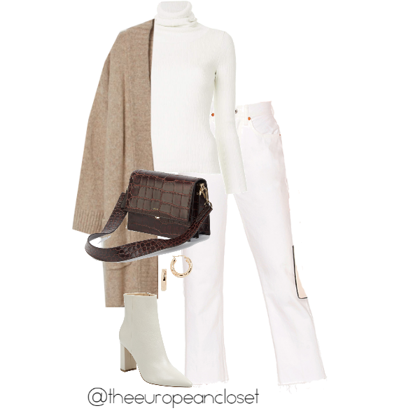 Want to wear your favorite white jeans during winter but don't know how? Here are a few winter outfits with white jeans.