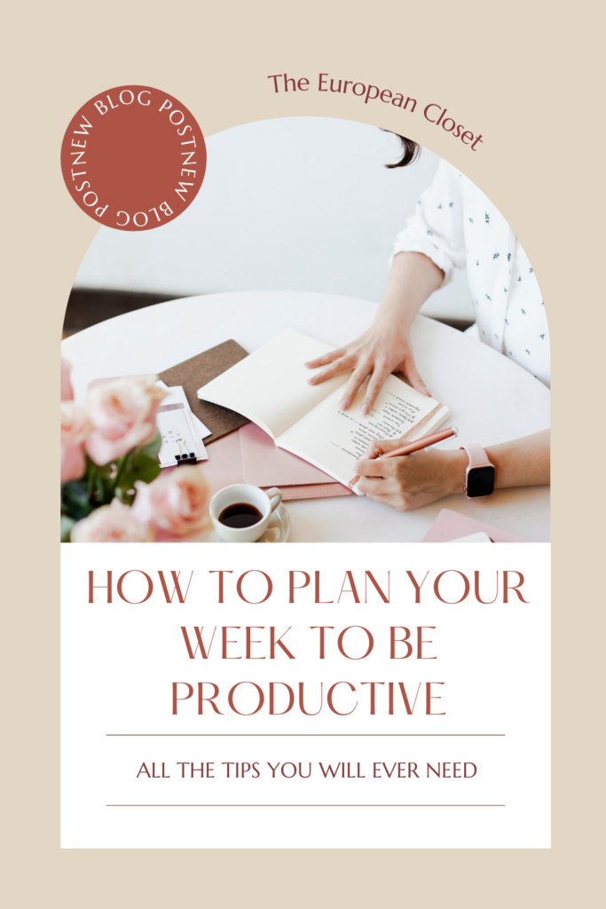 Knowing how to plan your week to be productive will seriously change your life forever. Keep reading to find out how to do it.