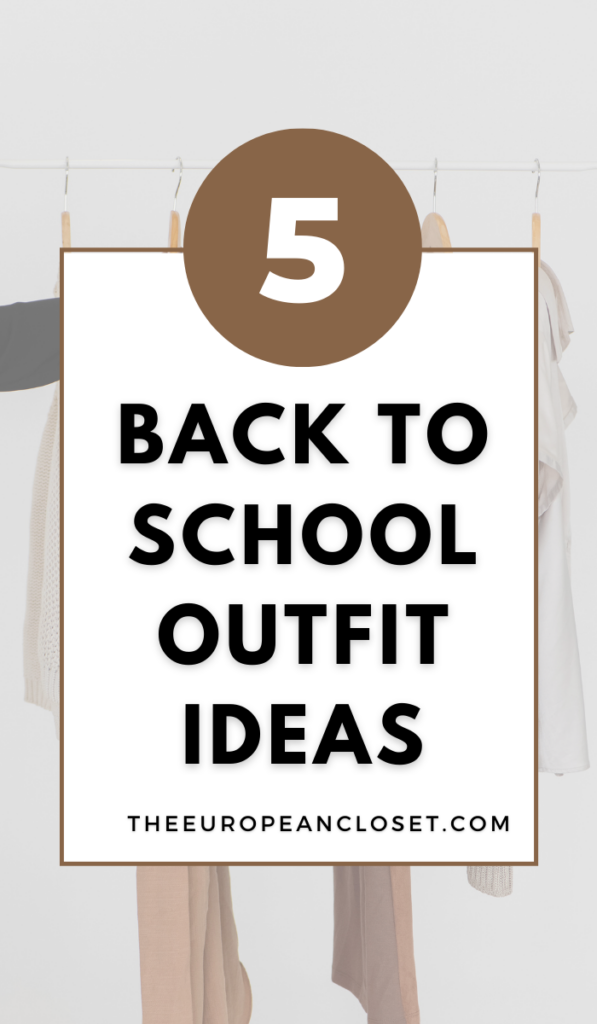 Are you going back to school and are looking for back to school outfit ideas? Take a look at these 9 outfits you can wear on your first day back.