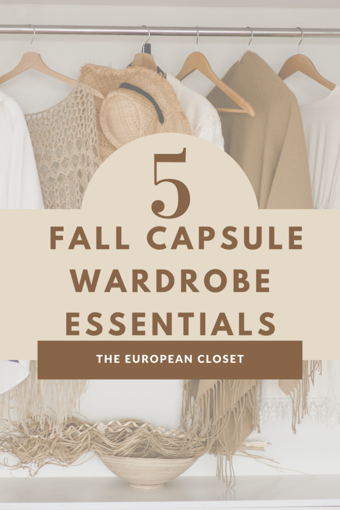 Are you looking to create a fall capsule wardrobe but don't know where to start? You've come to the right place. Here are my top fall basics.