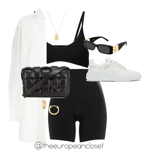 sporty outfit with white sneakers