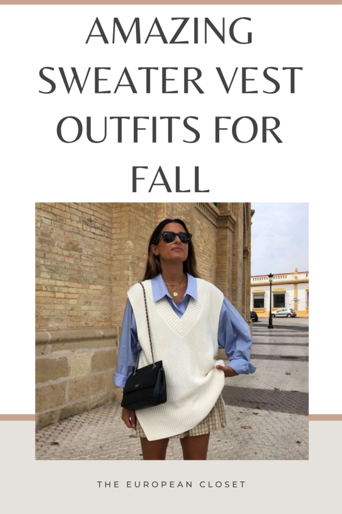 Looking for sweater vest outfit ideas? Look no further. Today I'm sharing with you how to style a sweater vest.